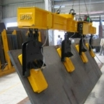 Electropermanent vertical plate lifting magnet